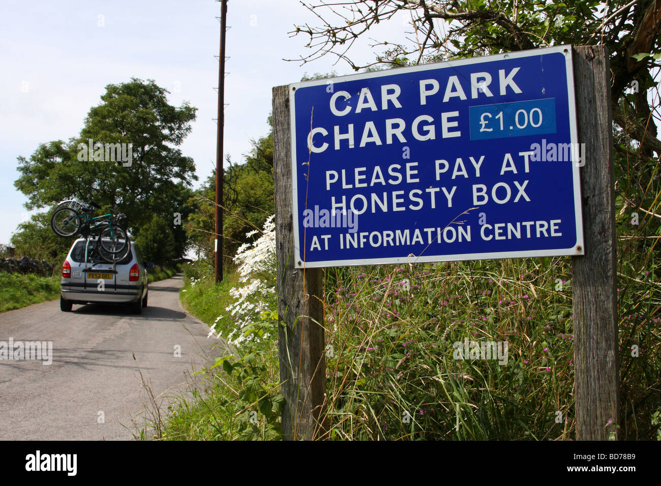 A car park charges sign in the U.K Stock Photo