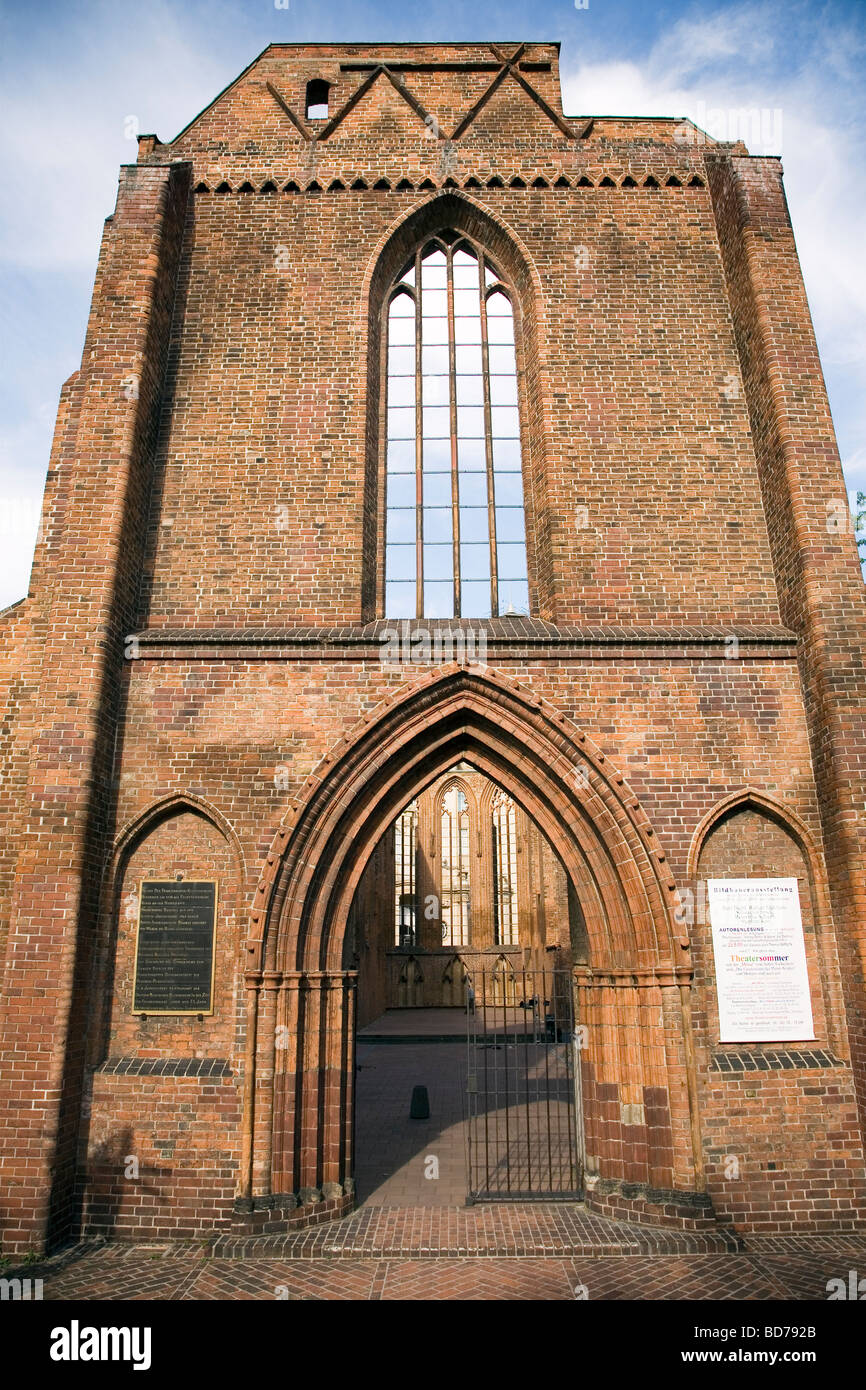 Franziskaner Klosterkirche(Franciscan Friary Church) ruin, Berlin, Germany - Stock Image