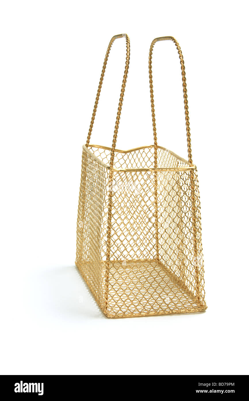 Wire Mesh Basket - Stock Image