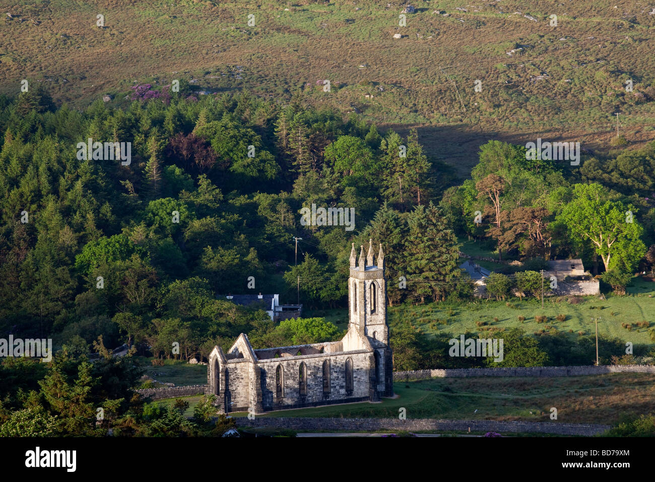 View over looking the Poison Glen and Dunlewy Lake in County Donegal Ireland - Stock Image