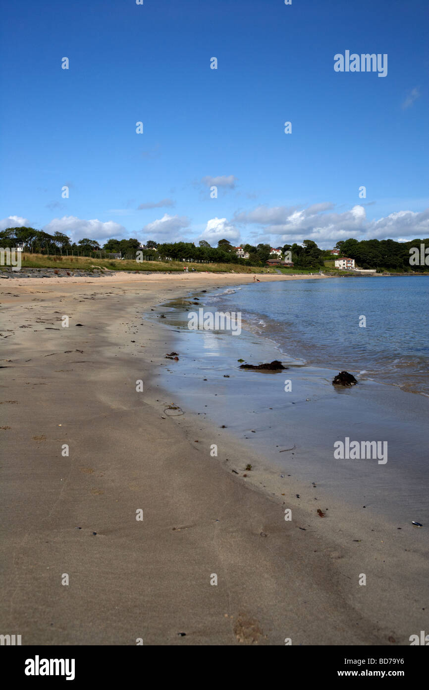 Helens bay beach now part of crawfordsburn country park in north county down northern ireland uk - Stock Image
