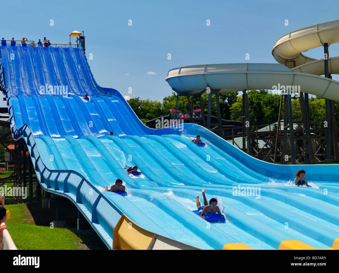 Riptide Racer Water Slide At A Water Park At Canada S