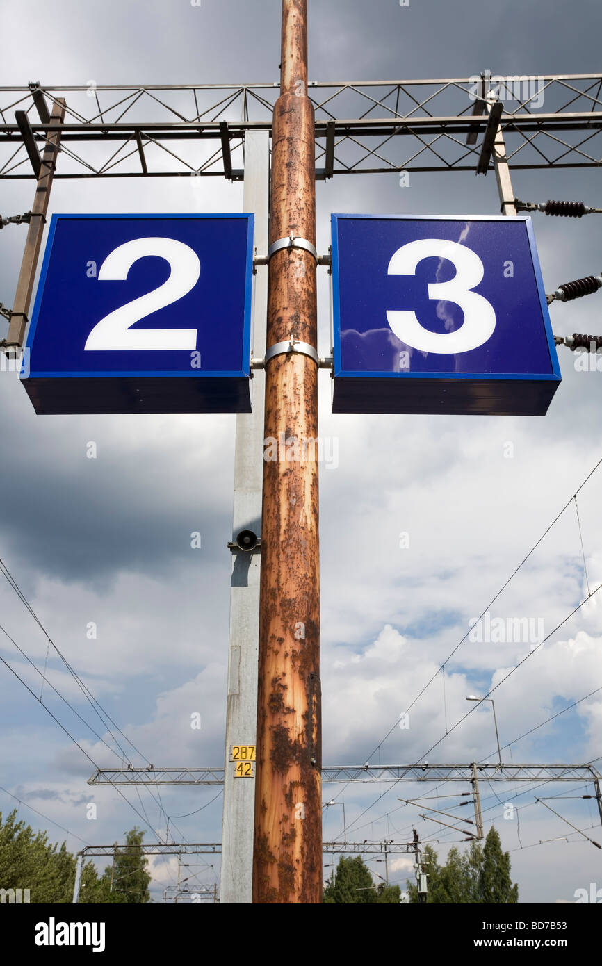 numbers two and three - Stock Image