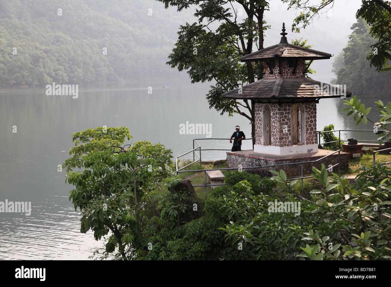 Nepal, Pokhara, lake Phewa, - Stock Image