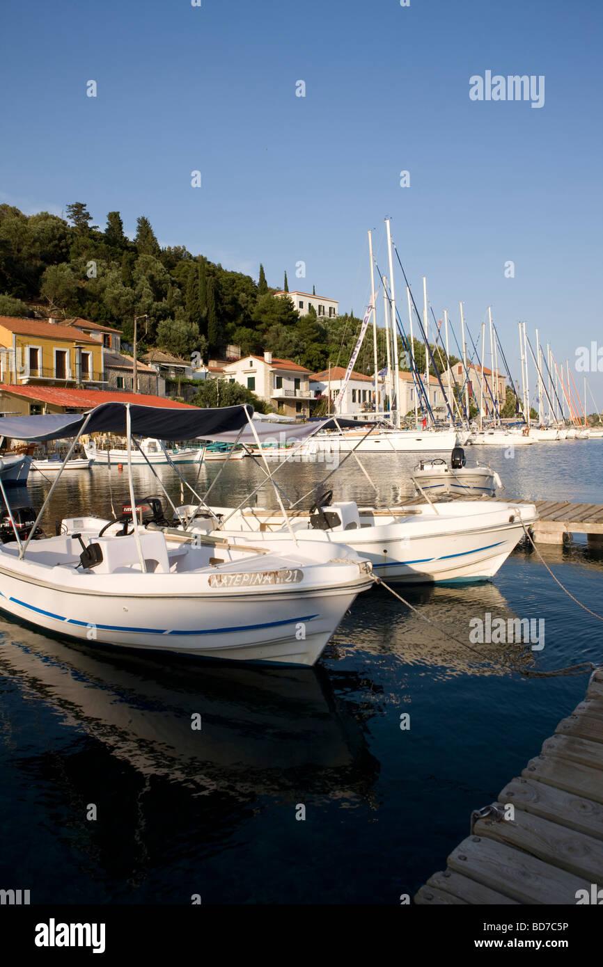 Harbour of Kioni, Ithaca, Greece - Stock Image