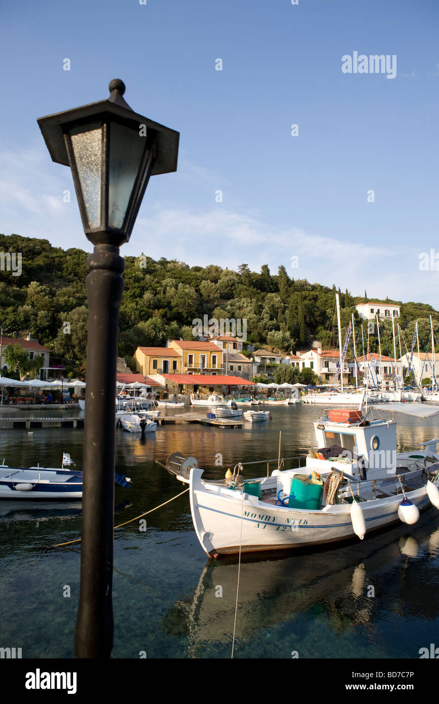 The Harbour of Kioni, Ithaca, Greece - Stock Image
