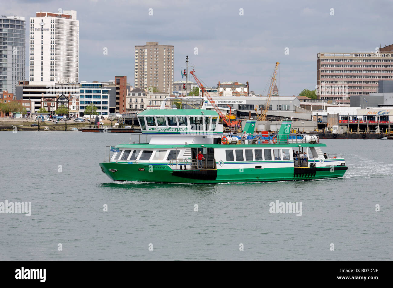 The Gosport Ferry crossing Portsmouth Harbour Stock Photo