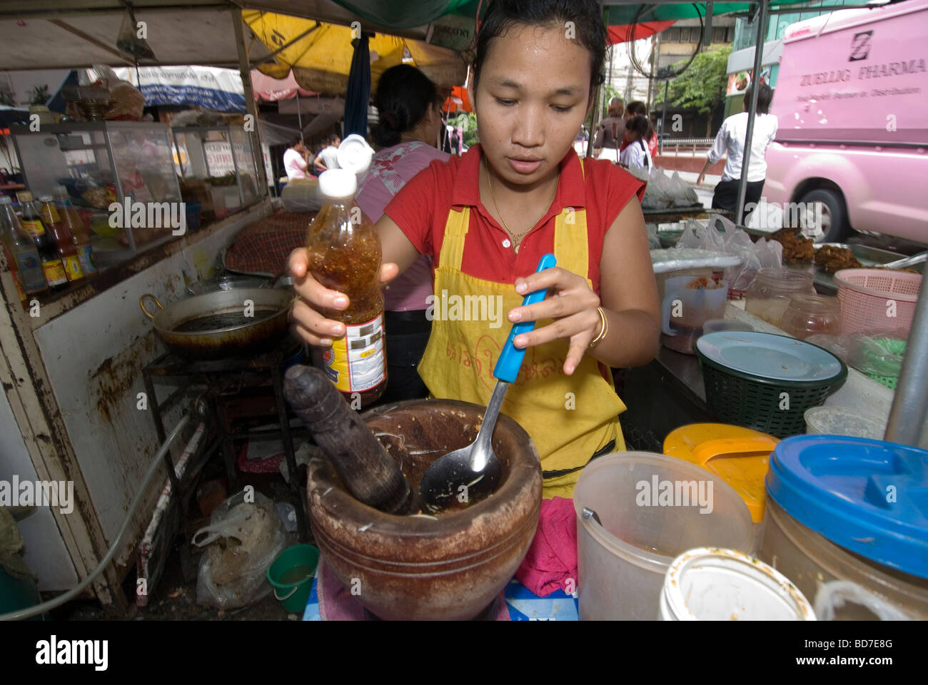 Street food. Bangkok,Thailand. - Stock Image