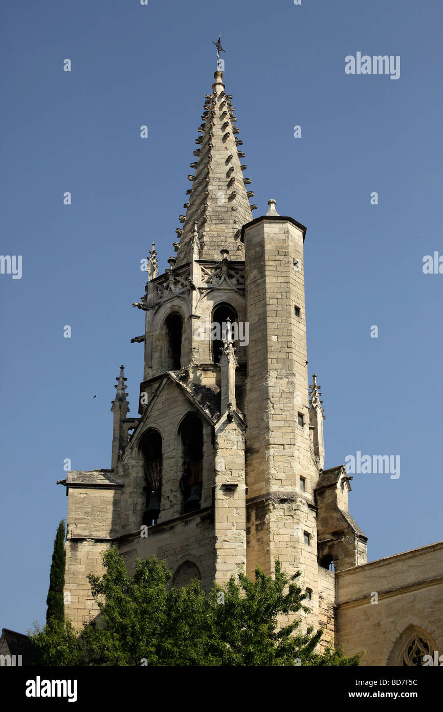 Saint Pierre church tower in Avignon Provence France Europe - Stock Image