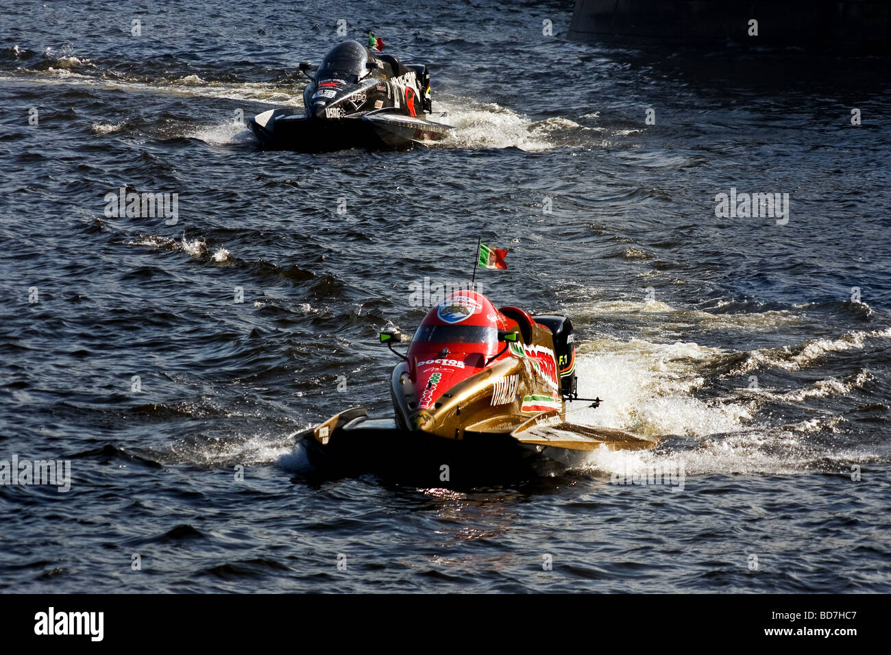 Formula 1 Powerboat World Championship 2009 St.Petersburg Russia - Stock Image