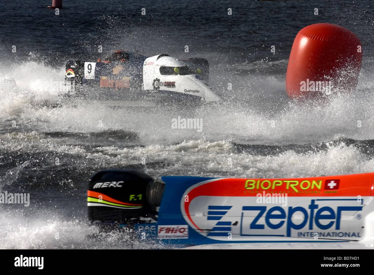 Formula 1 Powerboat World Championship 2009 St.Petersburg Russia - Stock Image