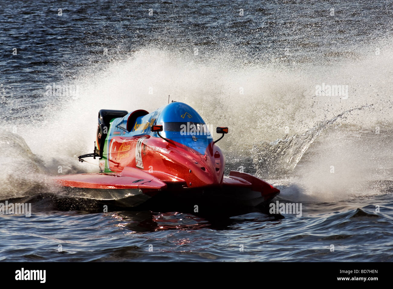 Formula 1 Powerboat World Championship 2009 St.Petersburg Russia Jonas Andersson - Stock Image