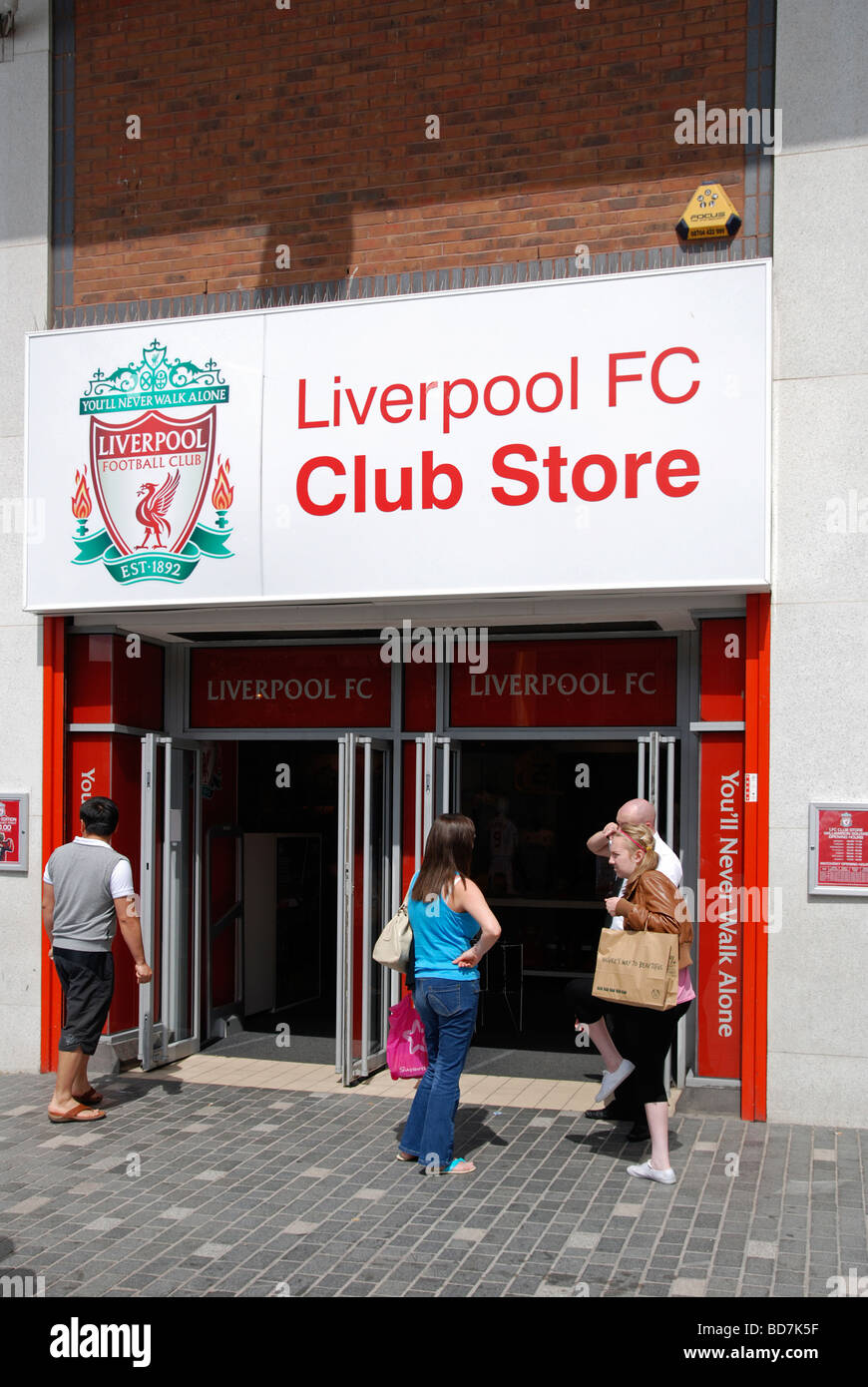 liverpool football club shop in the city centre, liverpool, uk - Stock Image