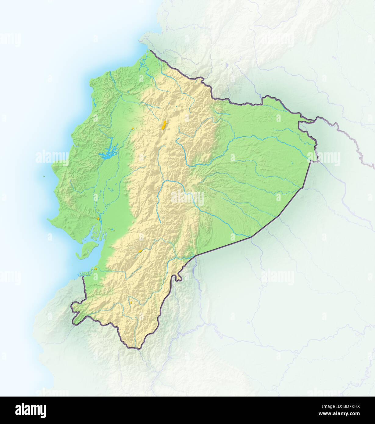 Ecuador Map Stock Photos & Ecuador Map Stock Images - Alamy