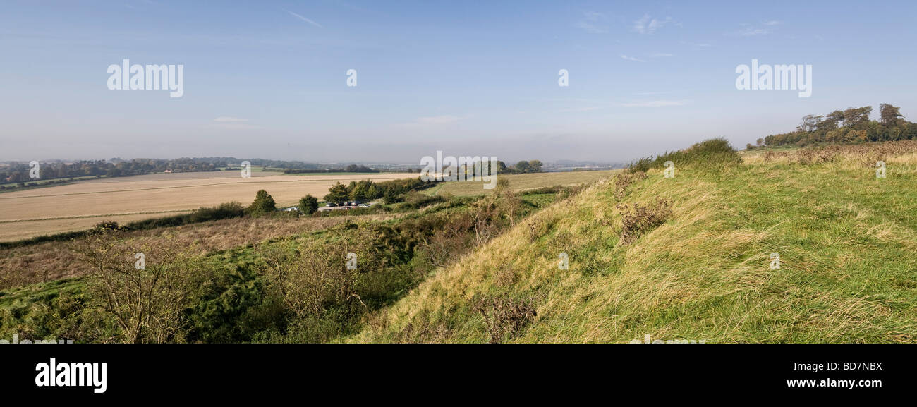 Castle Hill Iron Age fort near Little Wittenham Oxfordshire England UK - Stock Image