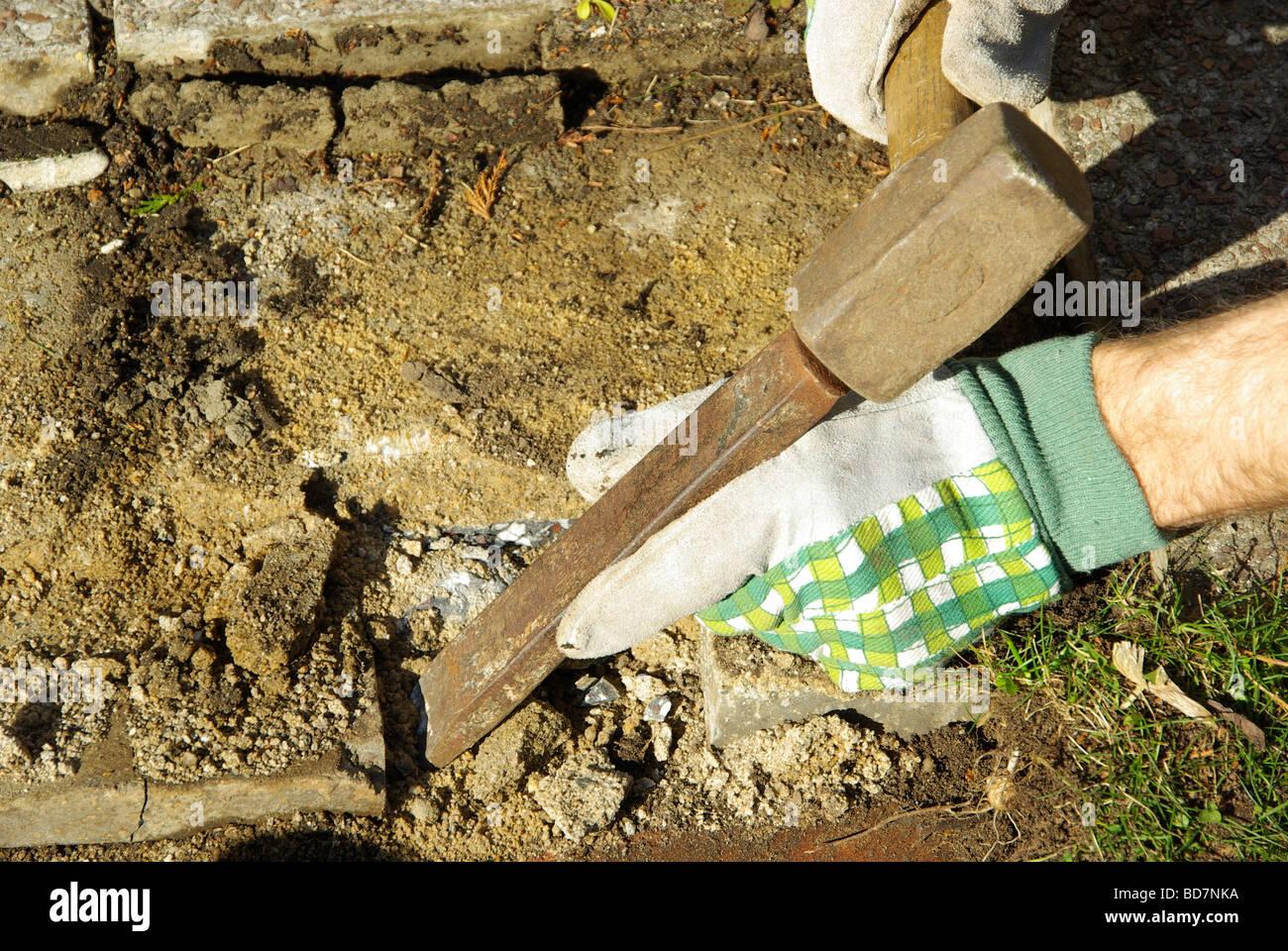 Hammer und Meißel 05 Stock Photo
