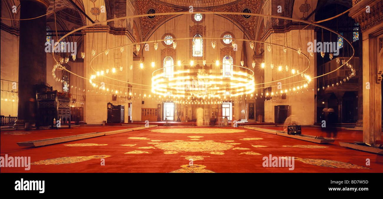 geography / travel, Turkey, Istanbul, buildings,  Yeni mosque, praying room, interior view, , Additional-Rights - Stock Image