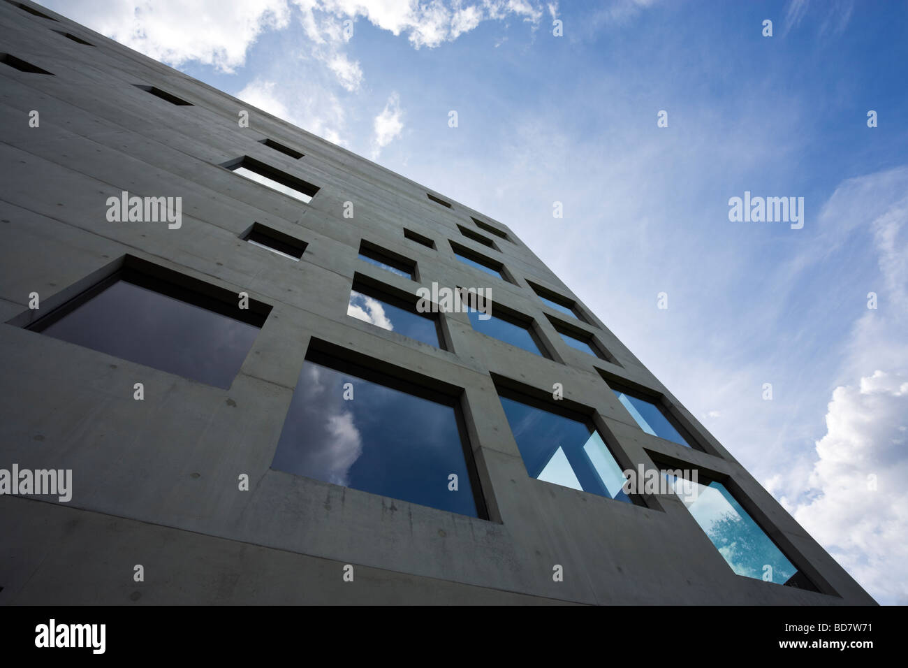 detail of Zollverein School For Management And Design building at the Zollverein Coal Mine Industrial Complex - Stock Image