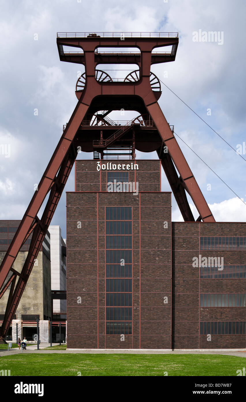 Shaft 12  at UNESCO World Heritage Site Zollverein Coal Mine Industrial Complex - Stock Image