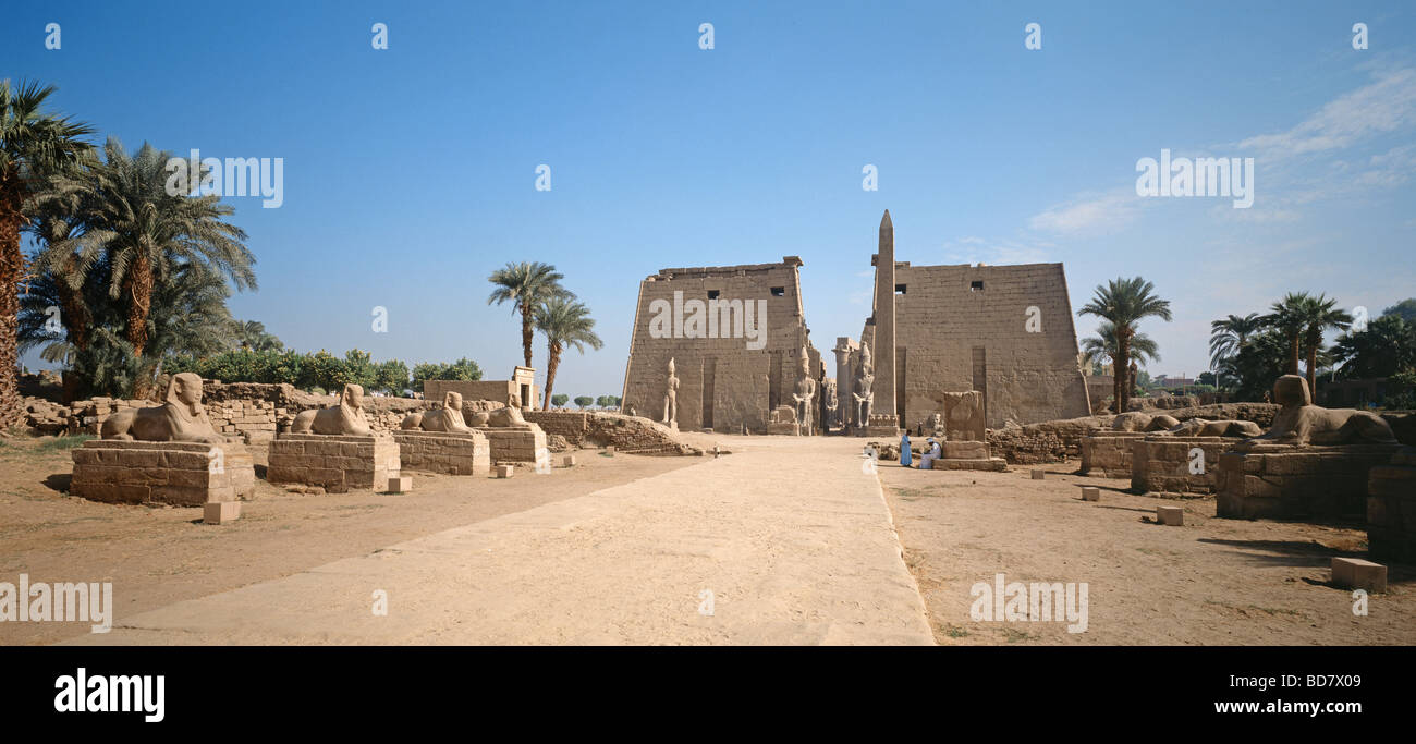 geography / travel, Egypt, Luxor, Karnak, avenues of human and ram-headed sphinxes, Additional-Rights-Clearance - Stock Image