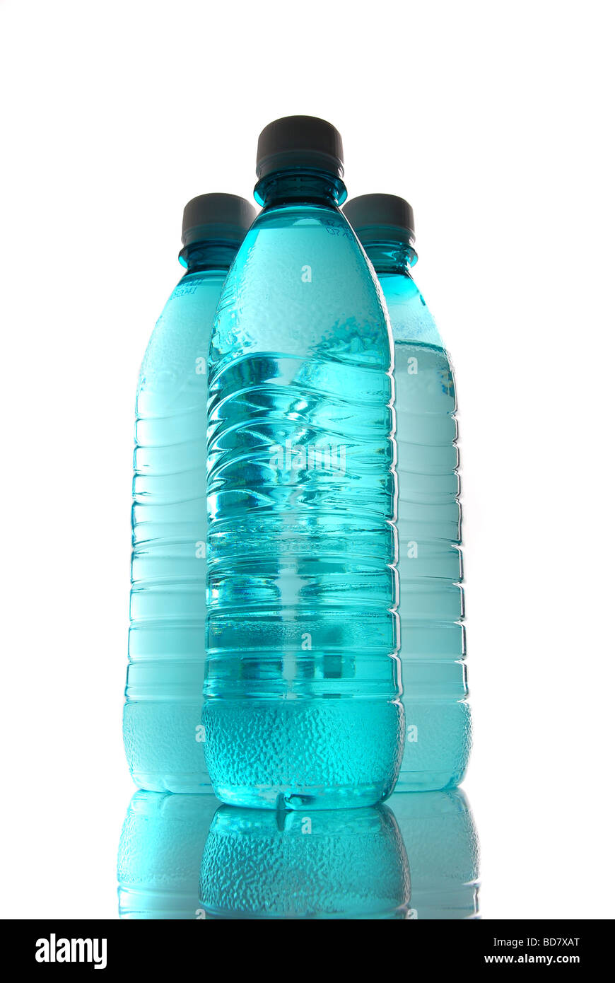 Plastic bottle of mineral water - Stock Image