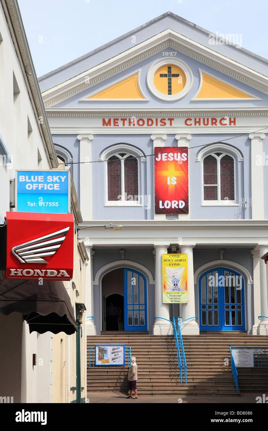Methodist Church St. Helier Jersey Channel Islands - Stock Image