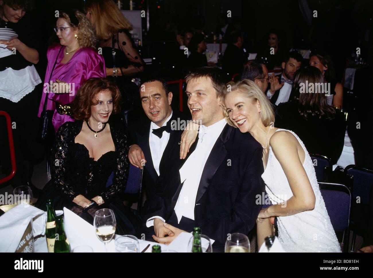 Kerkeling, Hans Peter 'Hape', * 9.12.1964, german actor, comedian, half length, with Penny Mc Lean, Bernd - Stock Image