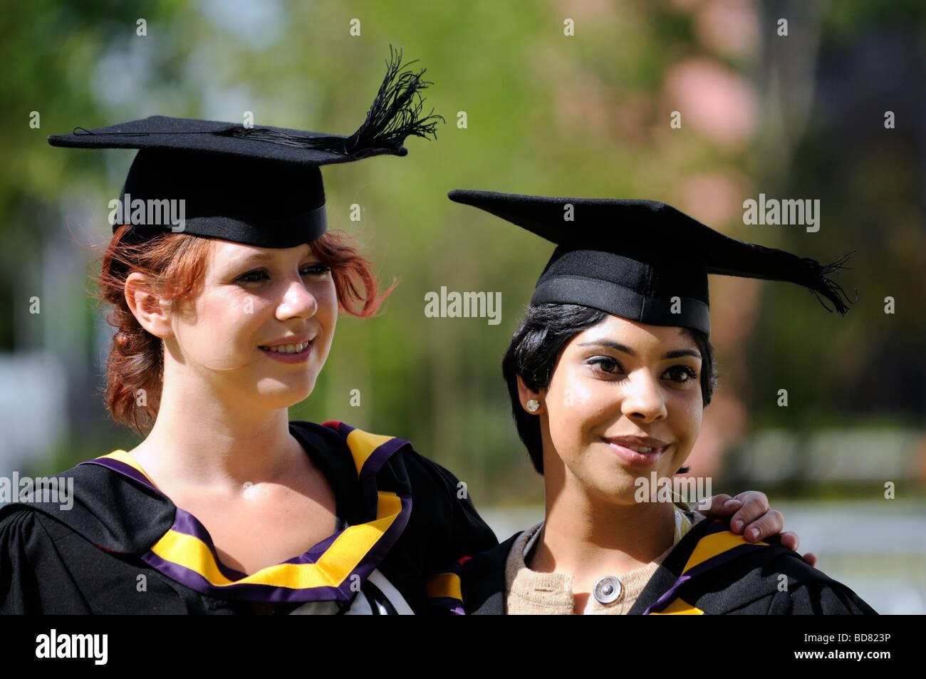 Medical School graduates from Manchester University, England, UK - Stock Image