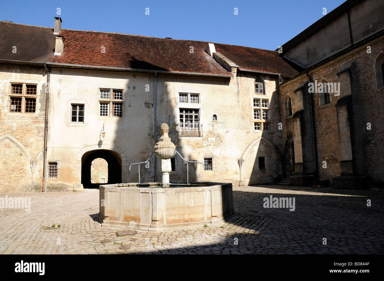 Baume Abbey, Baume les Messieurs, Jura, France. - Stock Image
