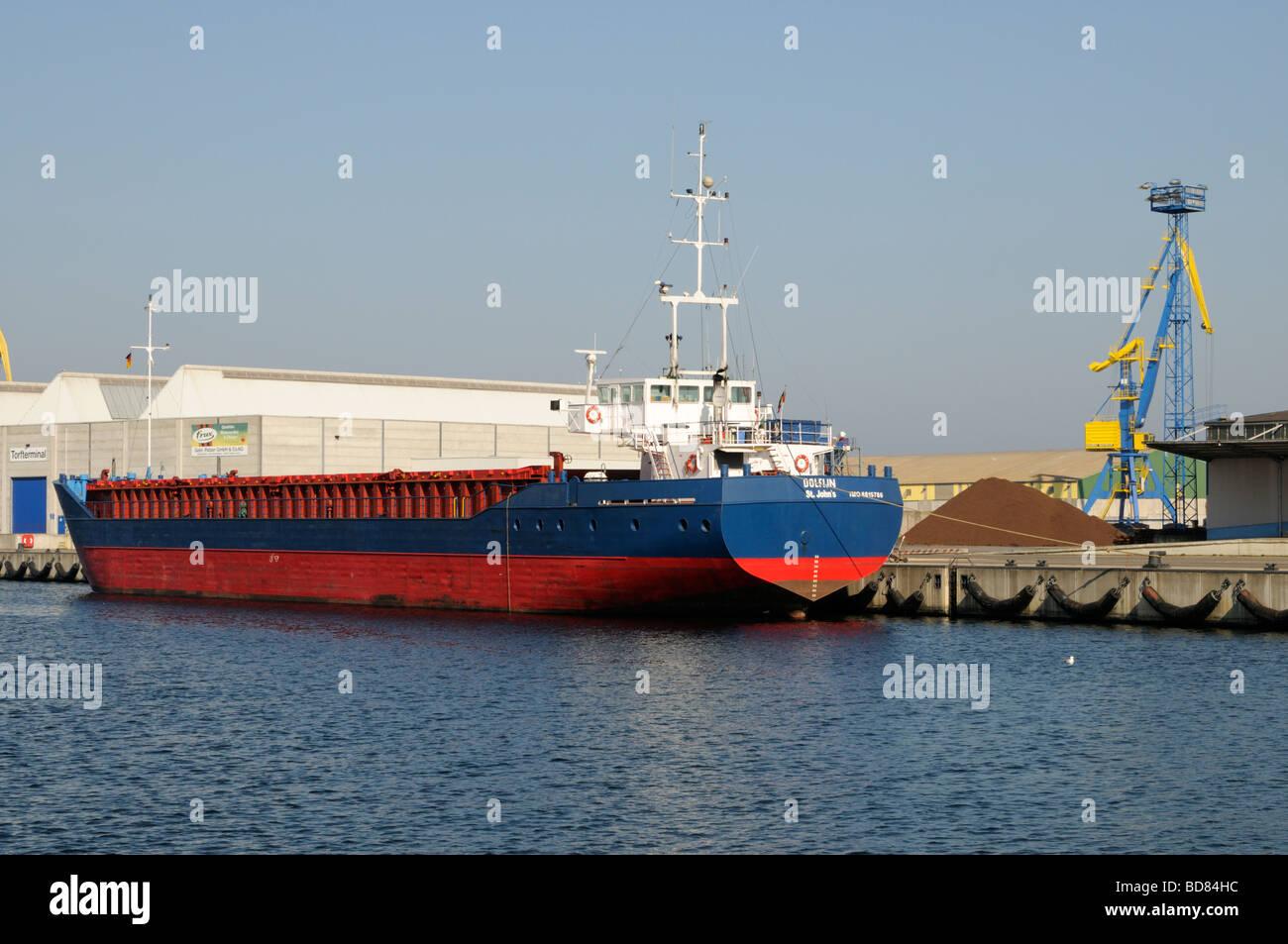 Torfterminal Hafen von Wismar Deutschland Peat terminal Port of Wismar Germany - Stock Image