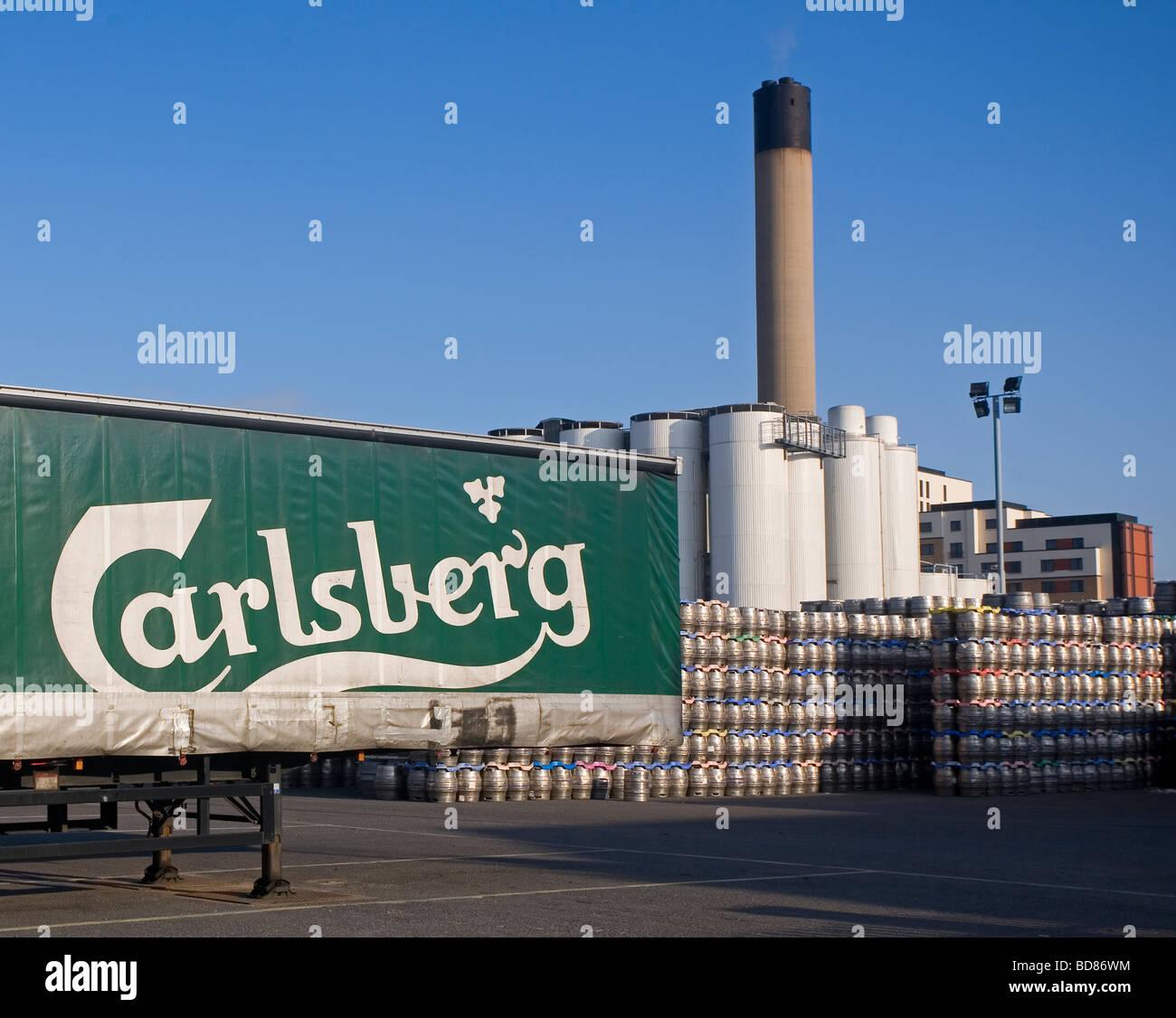 Carlsberg Tetley brewery in Leeds England - Stock Image