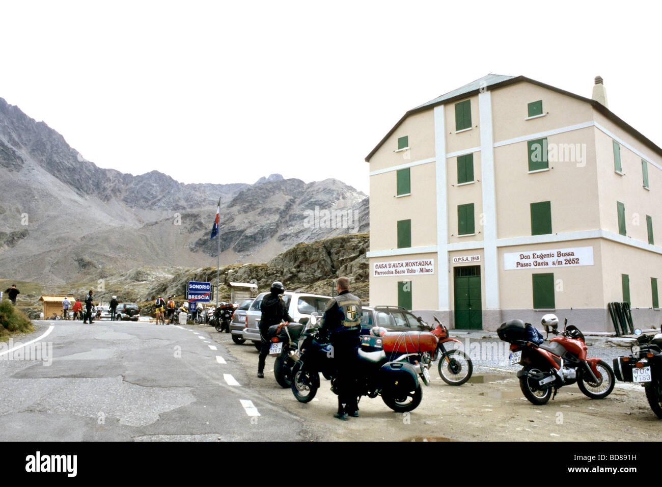 gavia pass Stock Photo