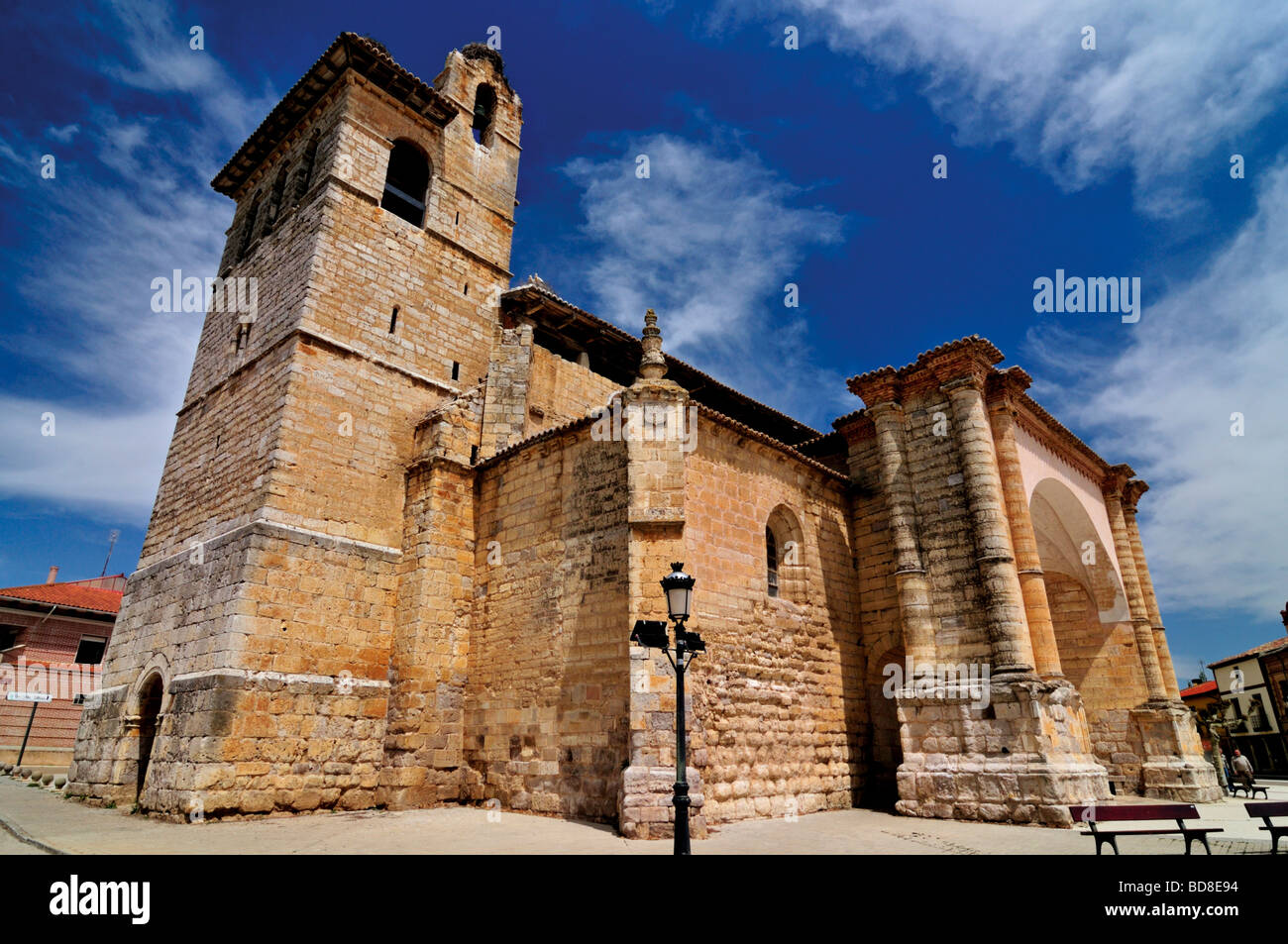 Spain, St. James Way: Iglesia de San Pedro in Fromista - Stock Image