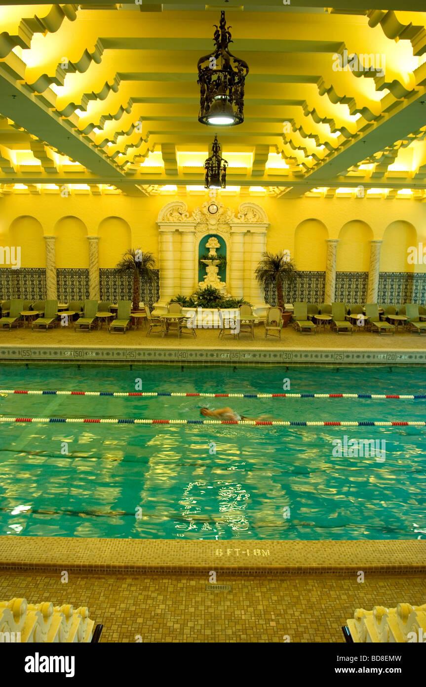 Intercontinental hotel interior architecture stock photos - Intercontinental park lane swimming pool ...