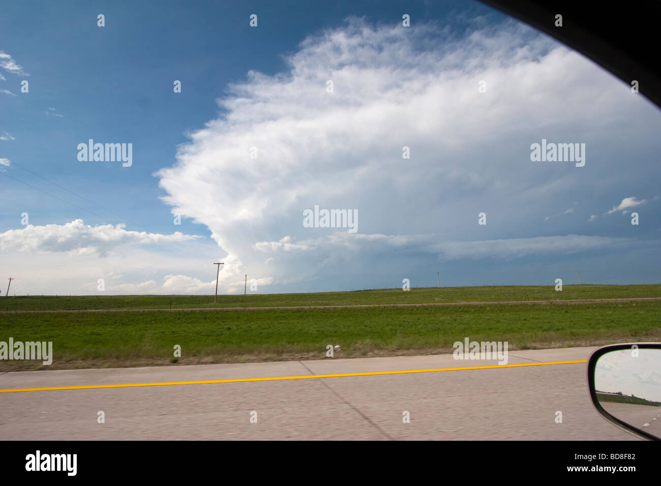 A storm forms in southern Kansas June 4 2009 during Project Vortex 2 - Stock Image