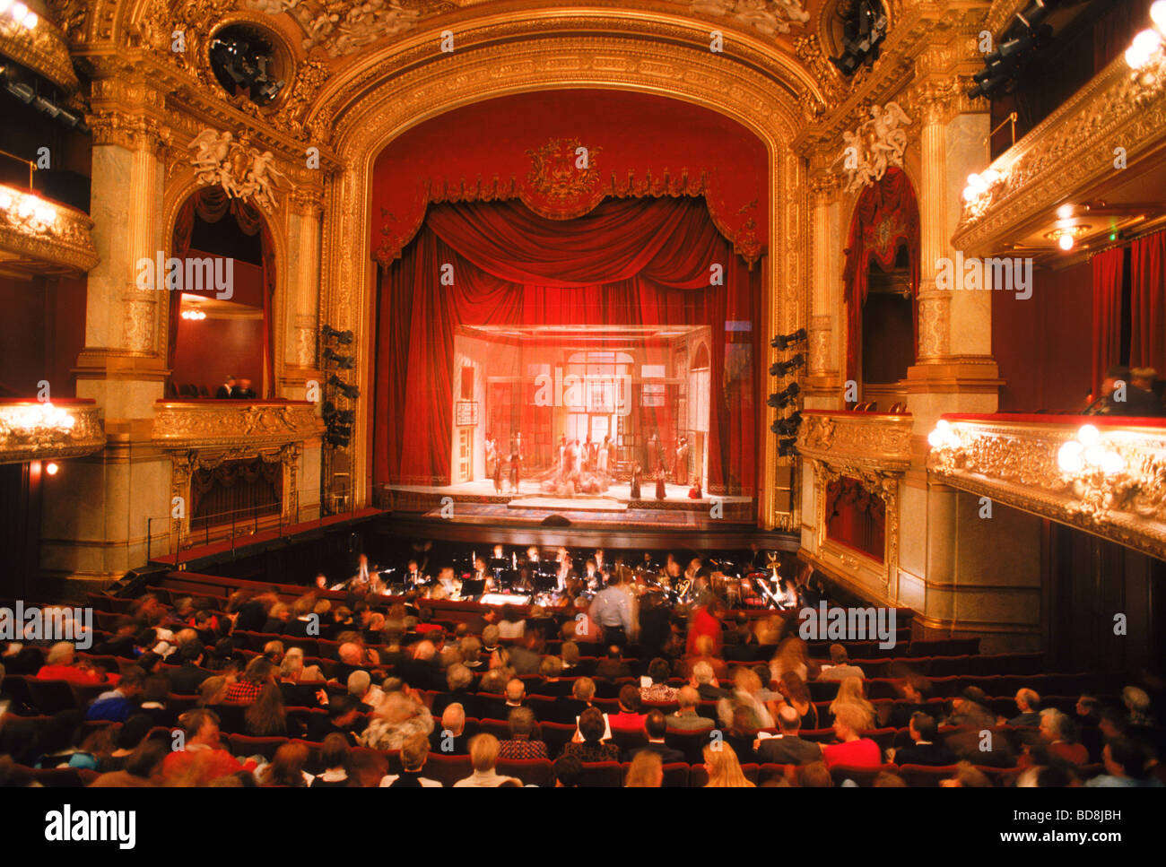 Audience and performing artists at Stockholm Royal Opera House - Stock Image