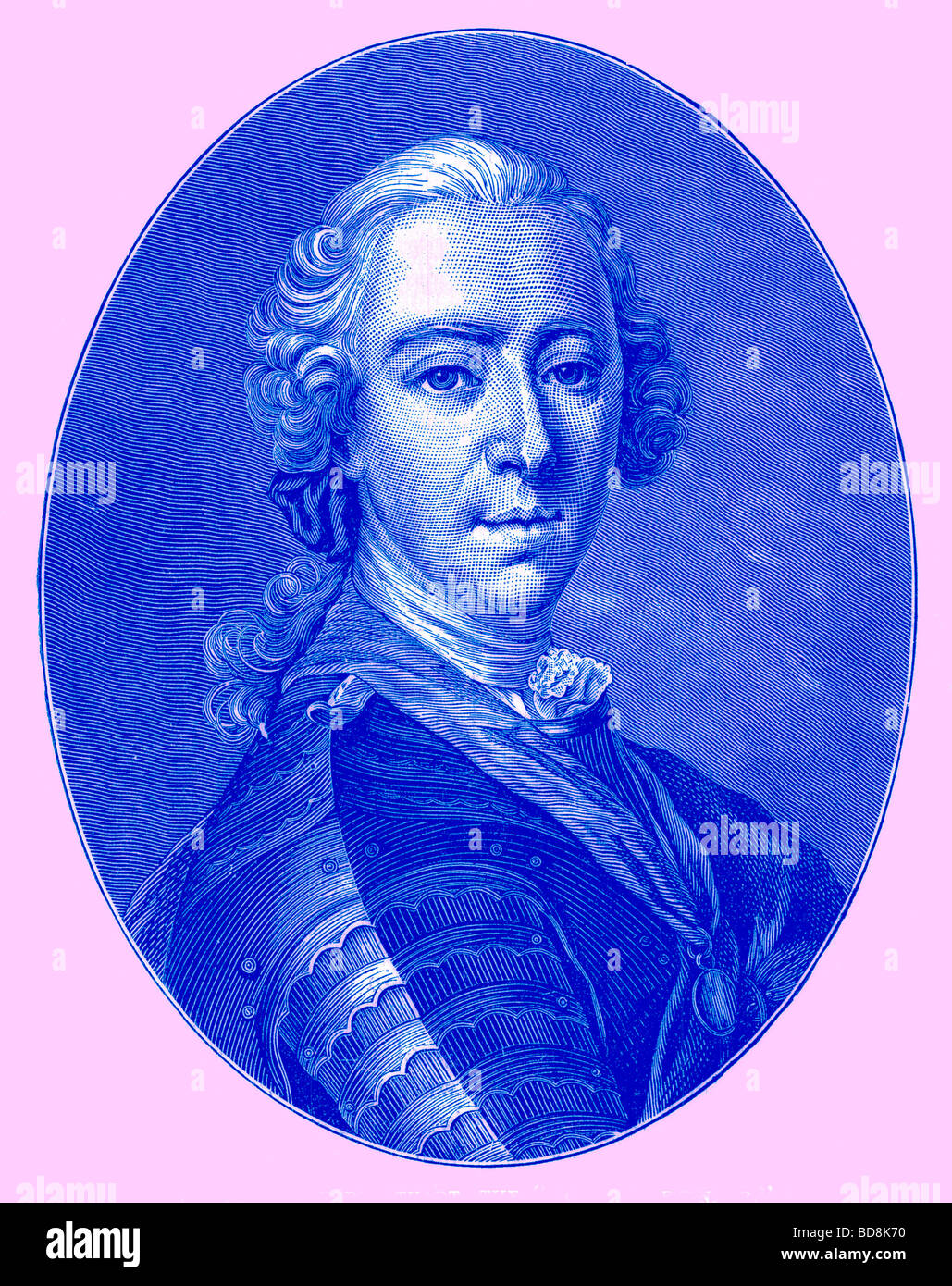 Charles Edward Stuart The Young Pretender Illustration from Cassell s Illustrated Universal History by Edward Ollier - Stock Image