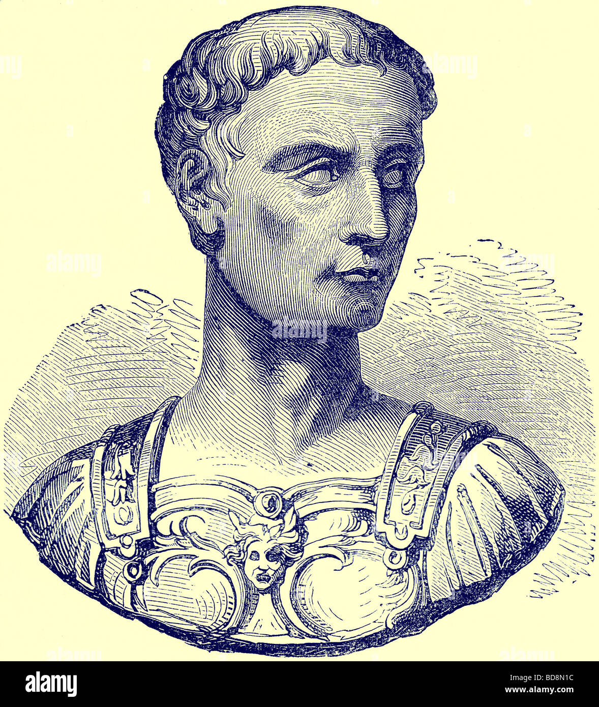 Caius Julius Caesar Illustration from The Illustrated History of the World Ward Lock c 1880 - Stock Image