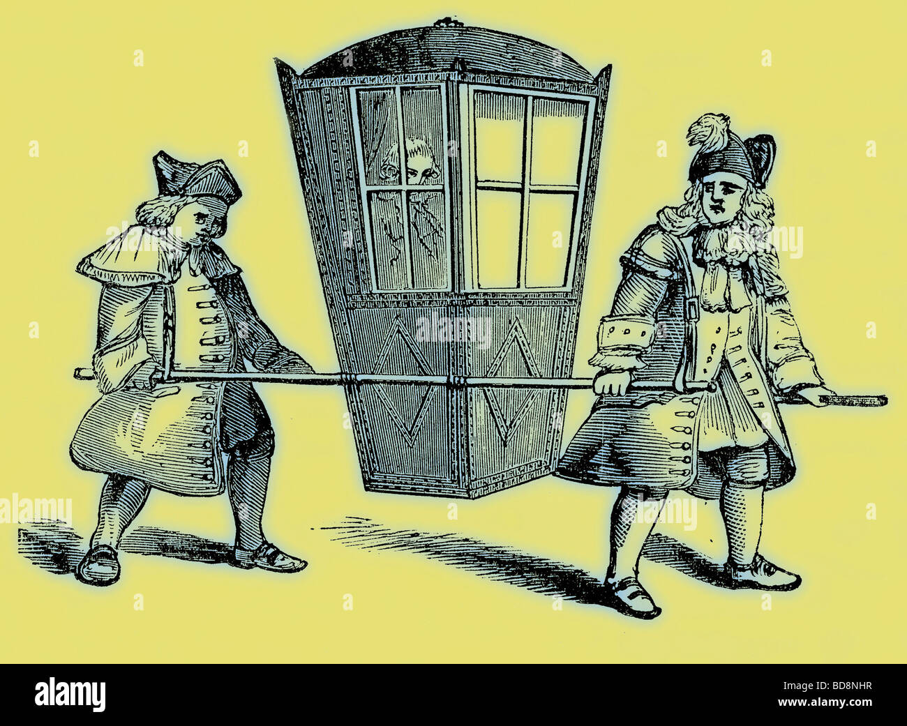 A Sedan Chair Illustration From Old And New London By Edward Walford Stock Photo Alamy