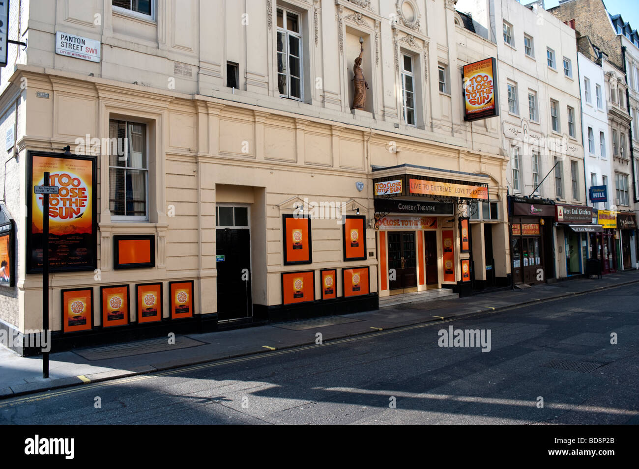 The Comedy Theatre in London. - Stock Image