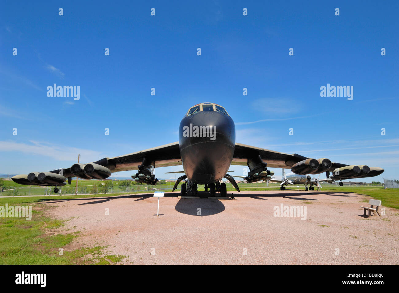 Boeing B 52D Stratofortress aircraft at South Dakota Air and Space Museum near Rapid City - Stock Image