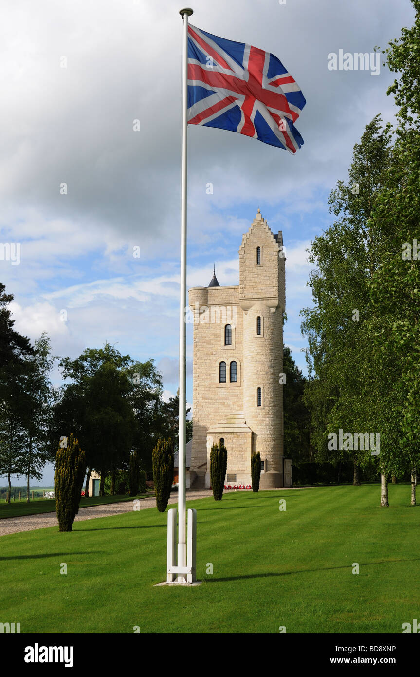 The Ulster Memorial at Thiepval on The Somme - Stock Image