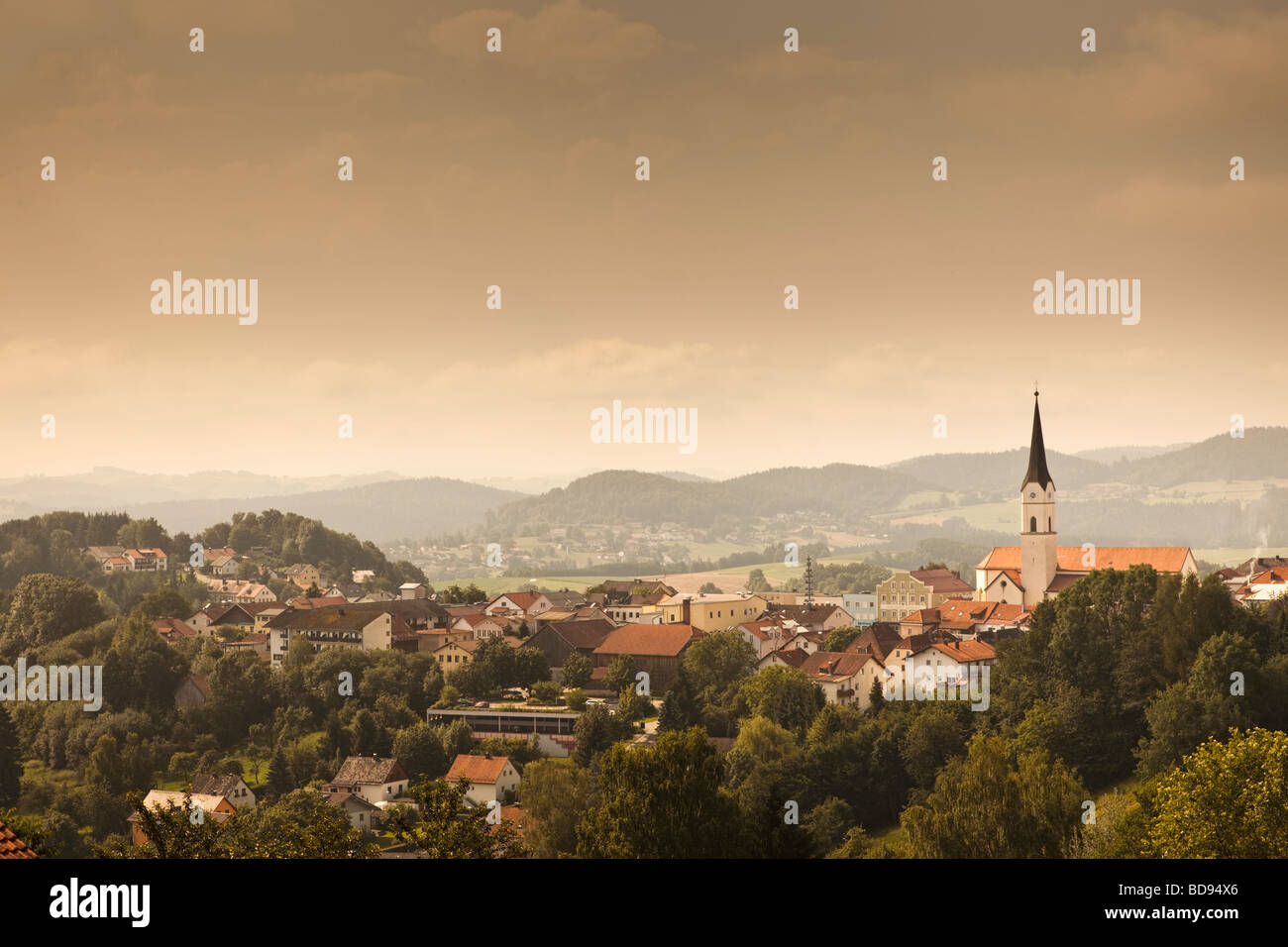 Town of Schonberg in the Bavarian Forest National Park, Bayerischer Wald or Bayerwald, Lower Bavaria, Germany, Europe Stock Photo