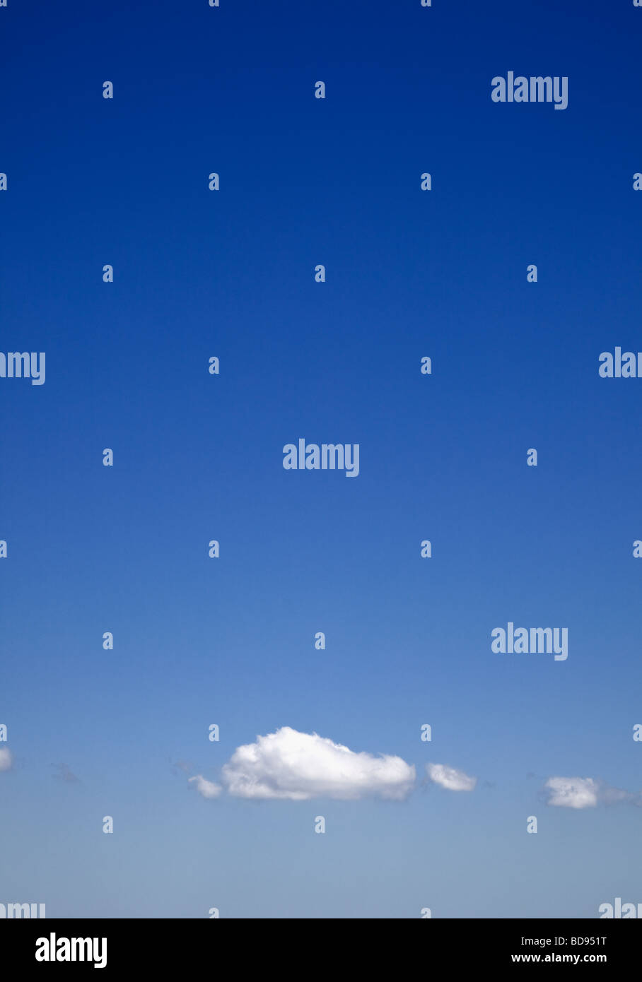 Blue sky with cumulus clouds - Stock Image