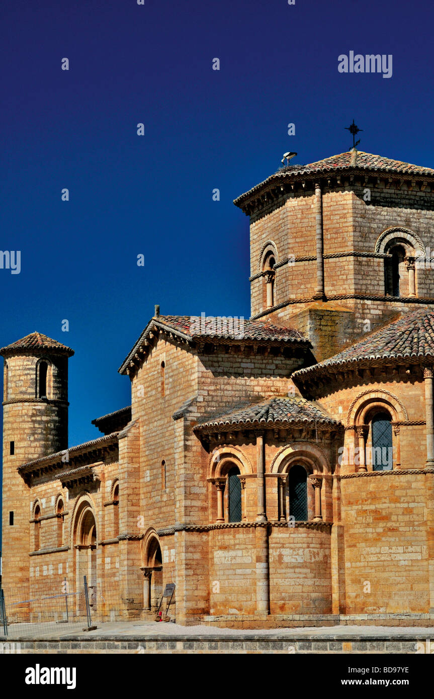 Spain, St. James Way: Romanesque church San Martin in Fromista - Stock Image