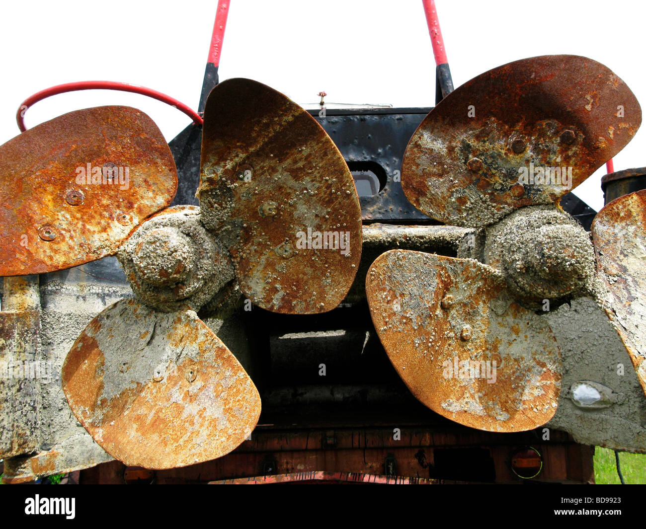 Rusty Old Boat Propellers Amrum Germany - Stock Image