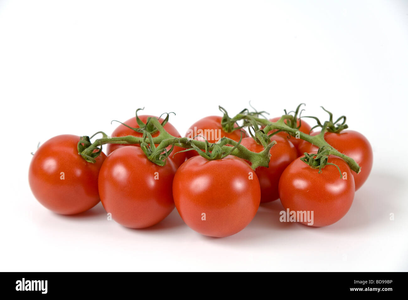 Organically grown tomatoes. - Stock Image