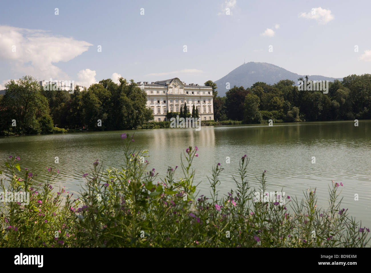 Von Trapp family house in The film of Sound of Music in Salzburg, Austria EU - Stock Image