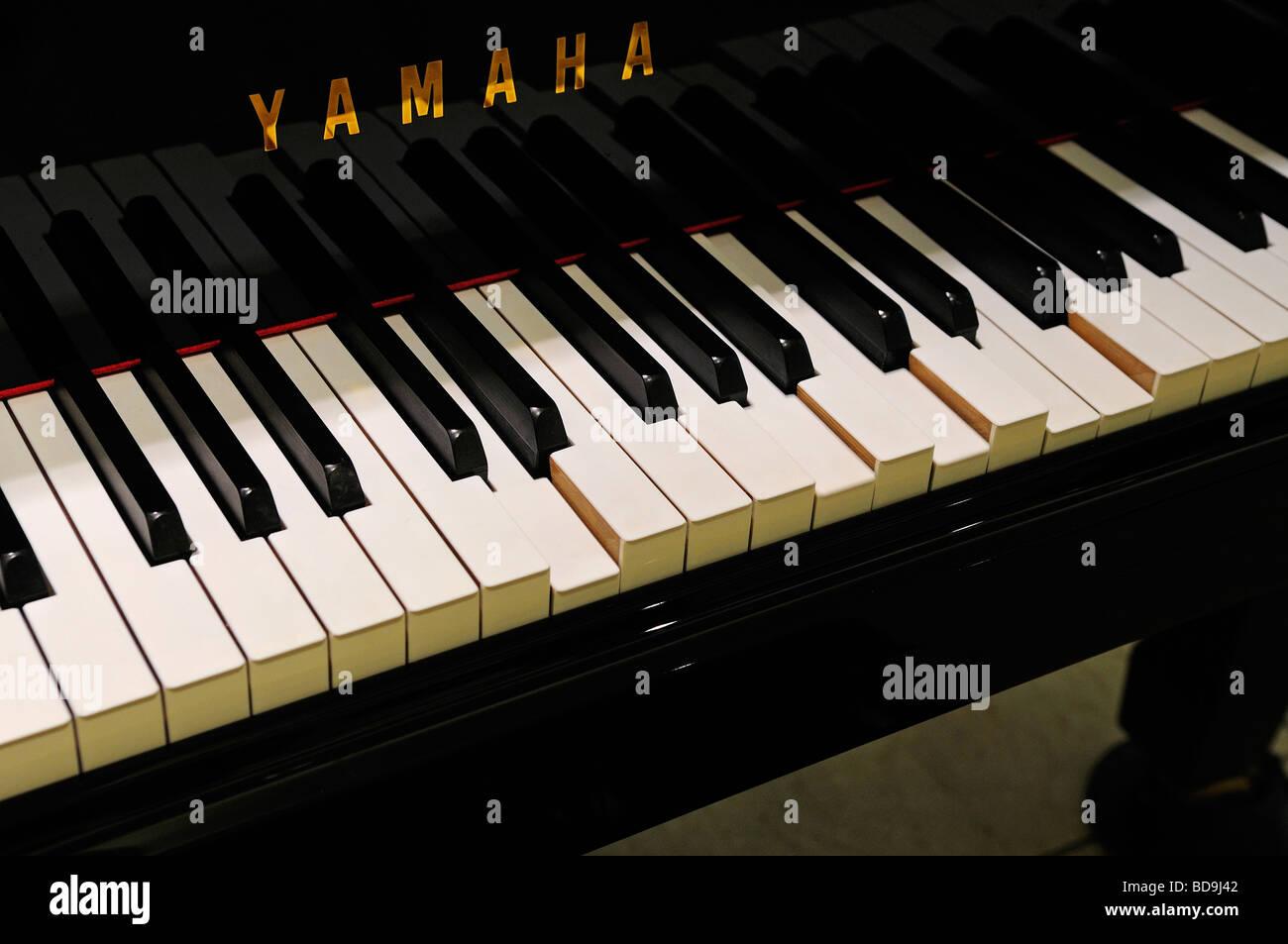 Yamaha pressed piano keyboard - Stock Image