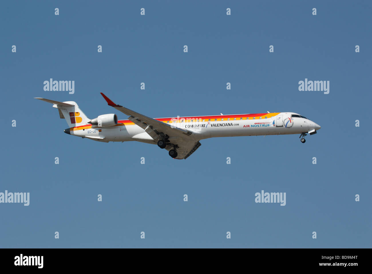 Bombardier CRJ900 operated by Air Nostrum on behalf of Iberia Regional - Stock Image
